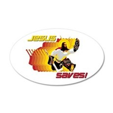 Jesus Saves 20x12 Oval Wall Peel