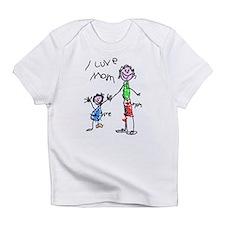 I Love Mum Creeper Infant T-Shirt