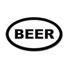 Beer Car 20x12 Oval Wall Peel