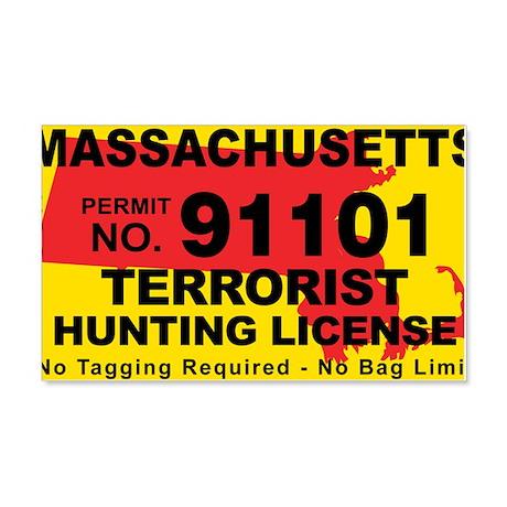 Massachusetts Terrorist Hunting License Sticker
