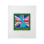 England Map Throw Blanket