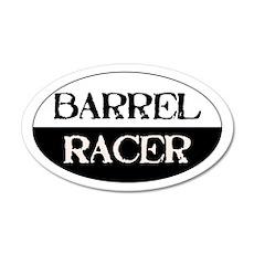 Barrel Racer -black/white- 20x12 Oval Wall Peel