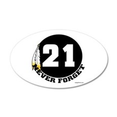 21 NEVER FORGET (FEATHER) 20x12 Oval Wall Peel