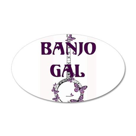 Butterfly Banjo 35x21 Oval Wall Peel