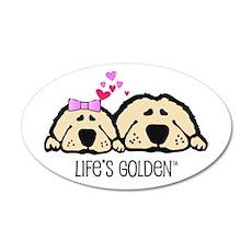 Life's Golden Valentine 20x12 Oval Wall Peel