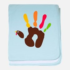Turkey Hand baby blanket