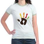 Turkey Hand Jr. Ringer T-Shirt