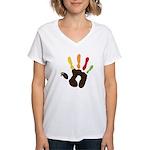 Turkey Hand Women's V-Neck T-Shirt