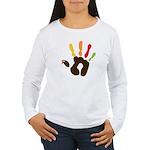Turkey Hand Women's Long Sleeve T-Shirt