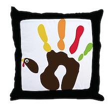 Turkey Hand Throw Pillow