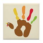 Turkey Hand Tile Coaster