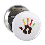 """Turkey Hand 2.25"""" Button"""
