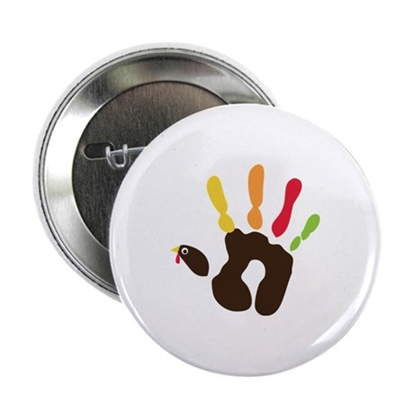 "Turkey Hand 2.25"" Button"