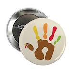 """Turkey Hand 2.25"""" Button (10 pack)"""