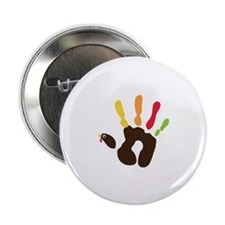 "Turkey Hand 2.25"" Button (10 pack)"