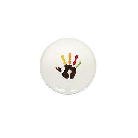 Turkey Hand Mini Button (10 pack)