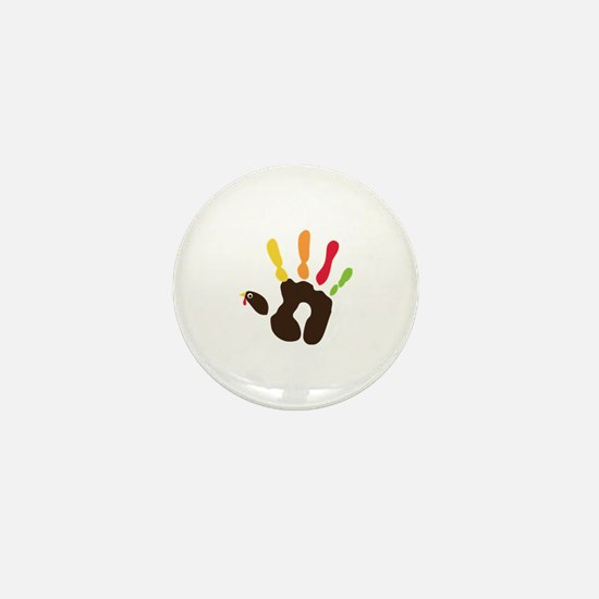 Turkey Hand Mini Button (10 pack)