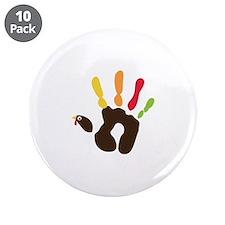 """Turkey Hand 3.5"""" Button (10 pack)"""