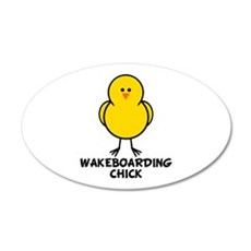 Wakeboarding Chick 20x12 Oval Wall Peel