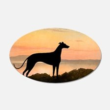 Greyhound Sunset 20x12 Oval Wall Peel