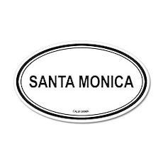 Santa Monica (California) 20x12 Oval Wall Peel