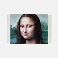 Unique Mona lisa Rectangle Magnet