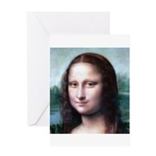 Cute Mona lisa Greeting Card