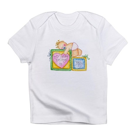 My Heart Belongs to Daddy Creeper Infant T-Shirt