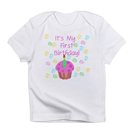 Cupcake First Birthday (Pink) Creeper Infant T-Shi