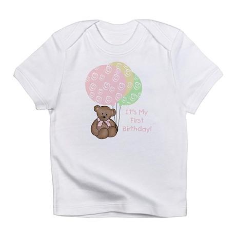 Bear 1st Birthday *Pink* Creeper Infant T-Shirt