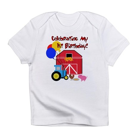 Farm First Birthday Creeper Infant T-Shirt