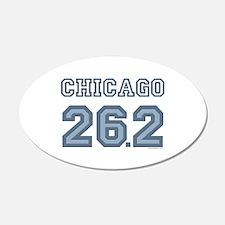 Chicago 26.2 Marathoner 20x12 Oval Wall Peel