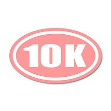 Pink 10 K Runner Oval 20x12 Oval Wall Peel