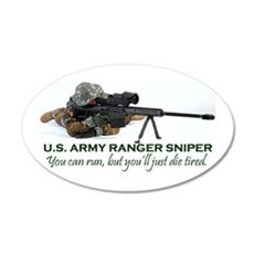 ARMY RANGER SNIPER 20x12 Oval Wall Peel