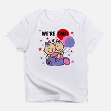 Twin Girls We're One Infant T-Shirt