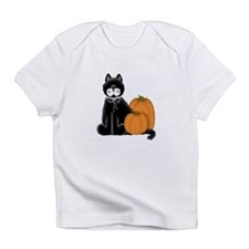 Black Cat and Pumpkins Infant T-Shirt