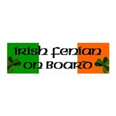 Irish Fenian on Board 36x11 Wall Peel