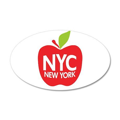 Big Apple Green NYC 20x12 Oval Wall Peel