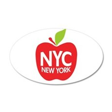 Big Apple Green NYC 20x12 Oval Wall Peel