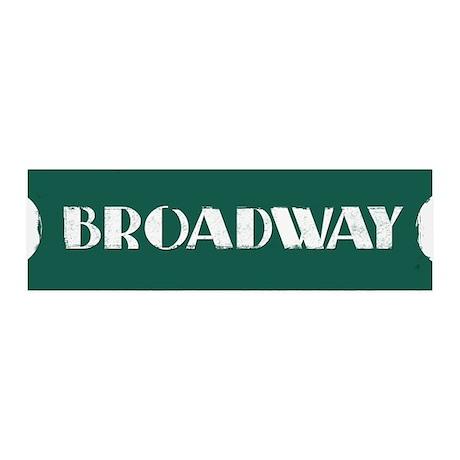 Broadway Street Sign 36x11 Wall Peel