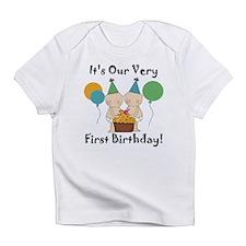 Twin Babies 1st Birthday Infant T-Shirt