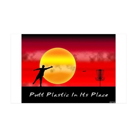 Putt Plastic In Its Place 35x21 Wall Peel