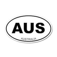 Australia 20x12 Oval Wall Peel