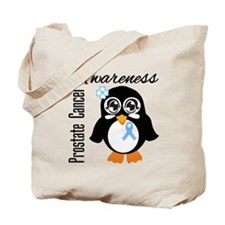 Penguin Cancer Awareness Tote Bag