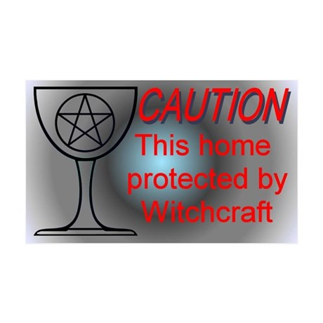 """""""Witchcraft Caution"""" 35x21 Wall Peel"""