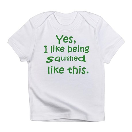 Squished (green) Creeper Infant T-Shirt