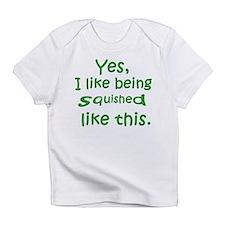 Squished (green) Creeper Infant T-Shirt