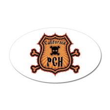 PCH & Crossbones 20x12 Oval Wall Peel