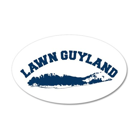 LAWN GUYLAND 35x21 Oval Wall Peel