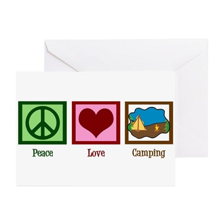 Peace Love Camping Greeting Cards (Pk of 10)